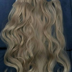Blonde clip extensions